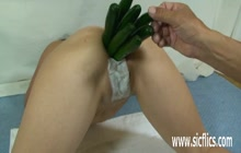 Anal gaping with vegetables